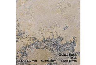 Picture of Golden Black Travertine Tile