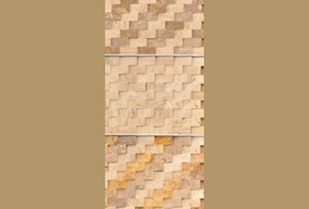 Picture of Travertine mosaics angle cut